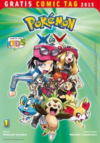 Pokémon XY - Gratis Comic Tag 2015 - Klickt hier für die große Abbildung zur Rezension