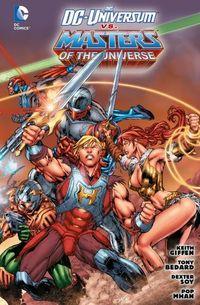 Das DC-Universum vs. Masters oft the Universe - Klickt hier für die große Abbildung zur Rezension