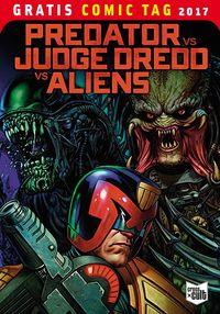 Predator vs. Judge Dredd vs. Aliens - Gratis Comic Tag 2017 - Klickt hier für die große Abbildung zur Rezension
