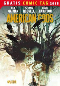 American Gods - Gratis Comic Tag 2018 - Klickt hier für die große Abbildung zur Rezension