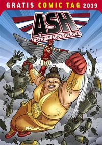 ASH Austrian Superheroes - Gratis Comic Tag 2019 - Klickt hier für die große Abbildung zur Rezension