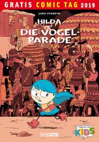Gratis Comic Tag 2019: Hilda und die Vogelparade - Klickt hier für die große Abbildung zur Rezension